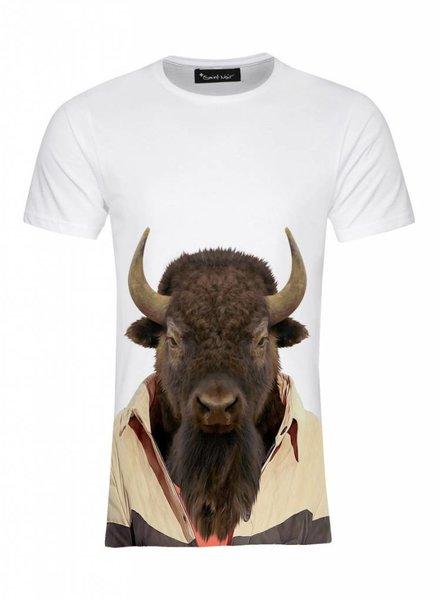 T-Shirt Herren - Bison - Zoo Portraits