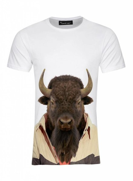 T-Shirt Men - Bison - Zoo Portraits