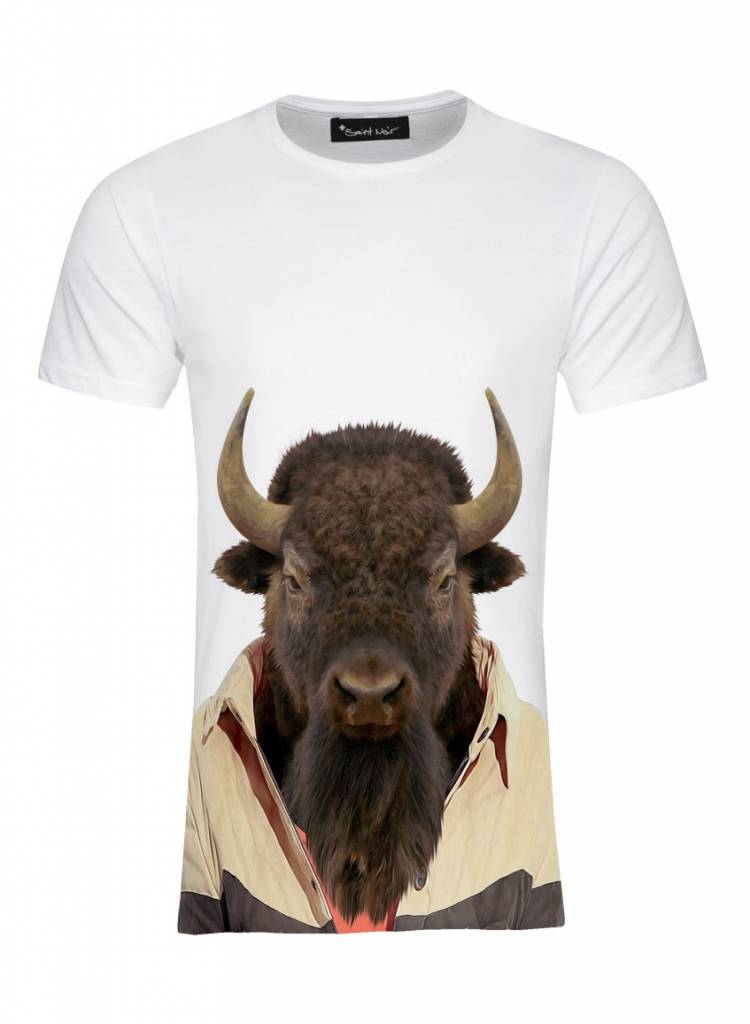 T-Shirt Herren - Bison - Zoo Portraits