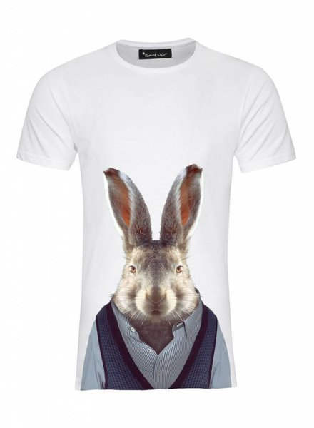 T-Shirt Men - Hare - Zoo Portraits