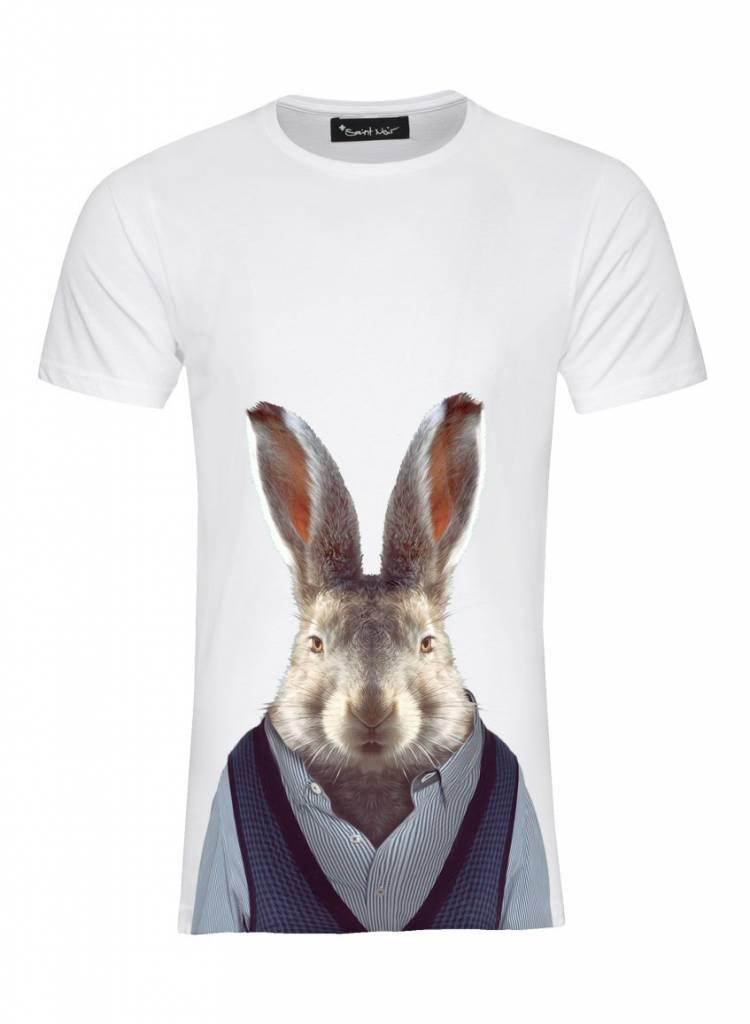 T-Shirt Herren - Hare - Zoo Portraits