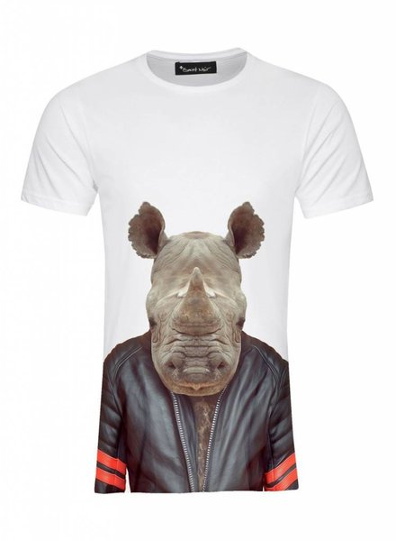 T-Shirt Men - Rhino - Zoo Portraits