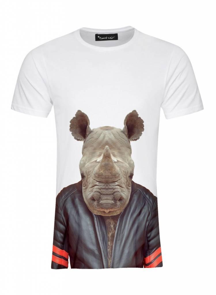 T-Shirt Men - Rhino - Zoo Portraits