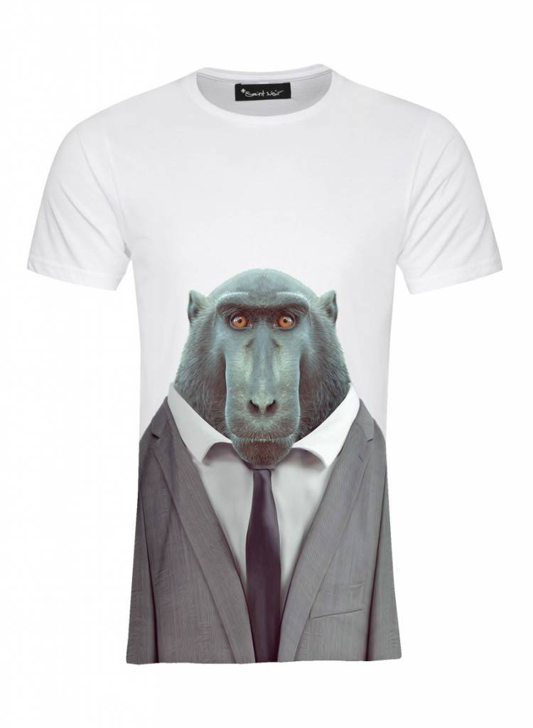 T-Shirt Men - Macaque - Zoo Portraits