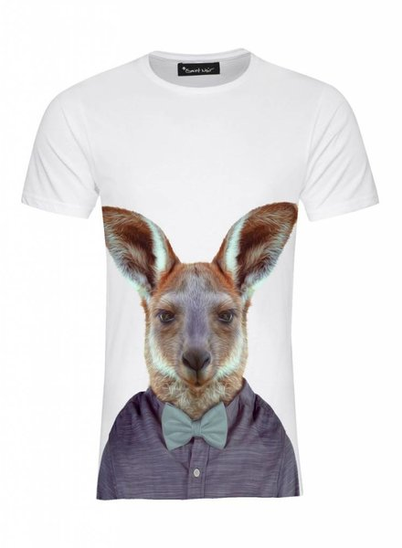 T-Shirt Men - Kangaroo - Zoo Portraits