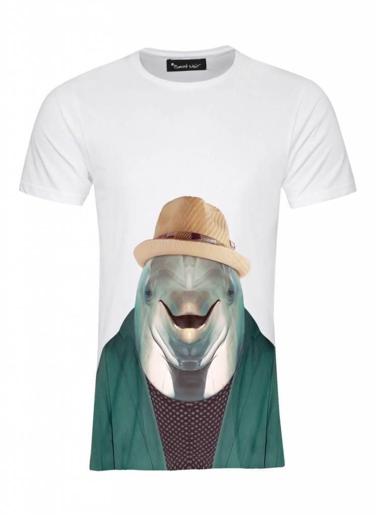 T-Shirt Herren - Dolphin - Zoo Portraits