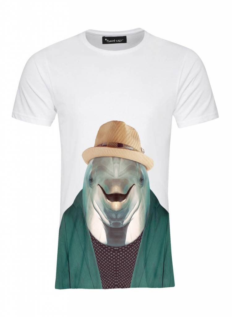 T-Shirt Men - Dolphin - Zoo Portraits