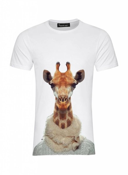 T-Shirt Men - Giraffe - Zoo Portraits