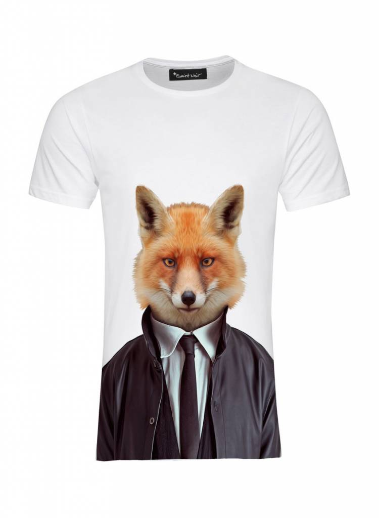 T-Shirt Men - Fox - Zoo Portraits