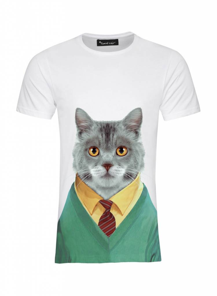 T-Shirt Men - Cat - Zoo Portraits