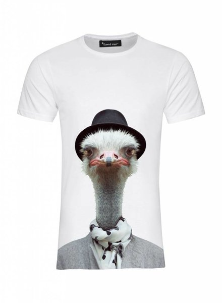 T-Shirt Men - Ostrich - Zoo Portraits