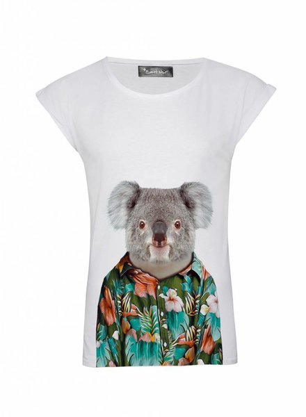 T-Shirt Rolled Sleeve Ladies - Koala - Zoo Portraits