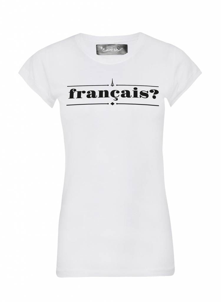 T-Shirt Skinny Cut Damen - Francais?