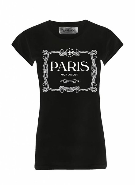 T-Shirt Skinny Cut Damen - Paris Mon Amour