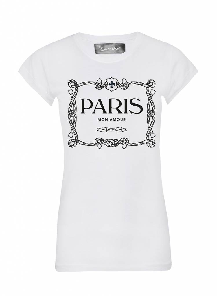T-Shirt Skinny Cut Damen - Paris Mon Amour