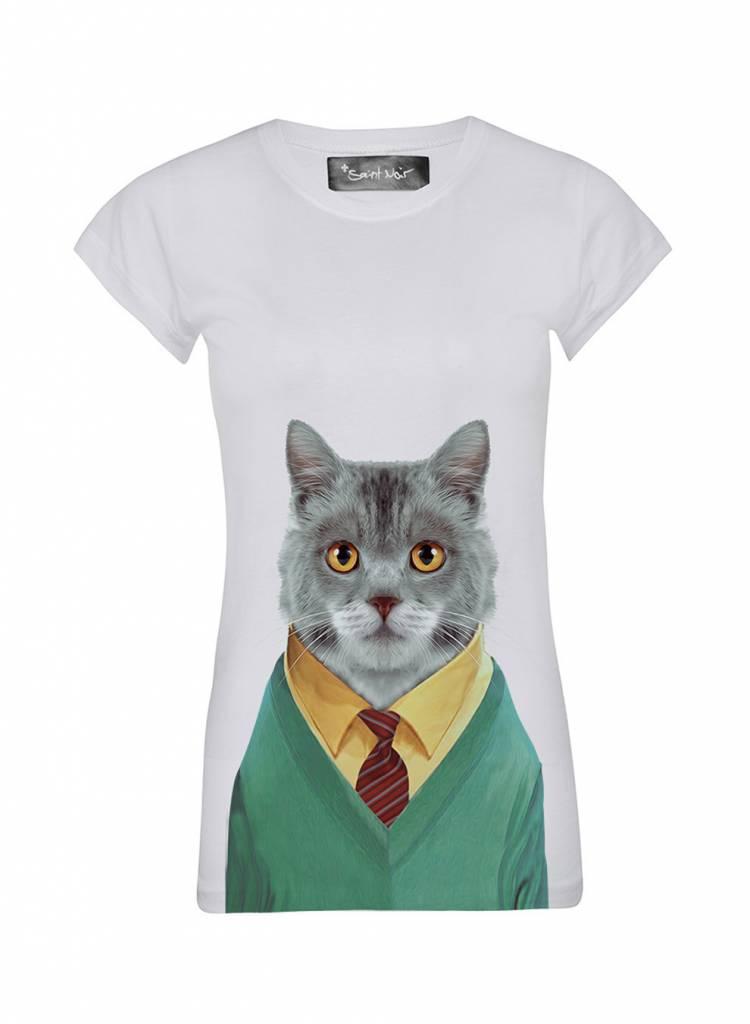 T-Shirt Skinny Cut Damen - Cat - Zoo Portraits