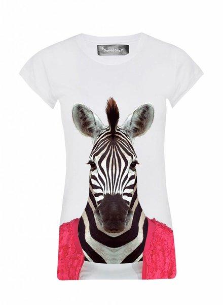 T-Shirt Skinny Cut Damen - Zebra - Zoo Portraits