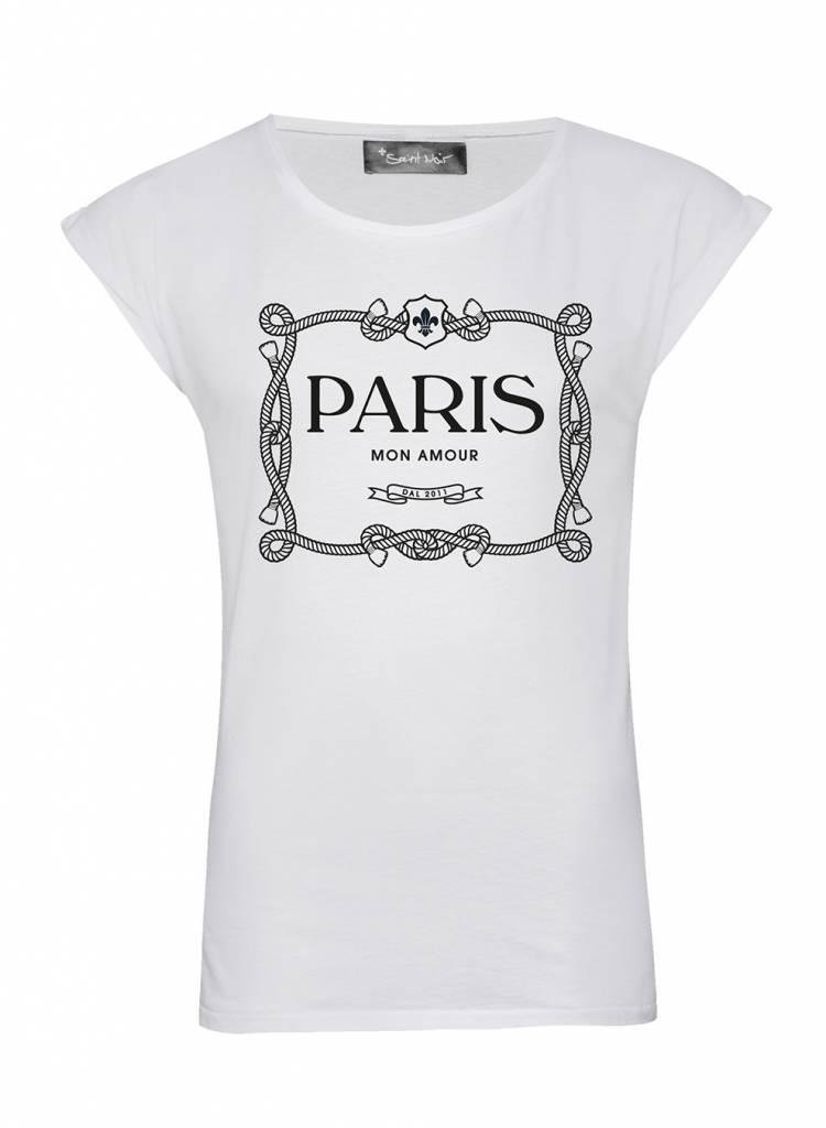 saint noir paris mon amour t shirt saint noir. Black Bedroom Furniture Sets. Home Design Ideas