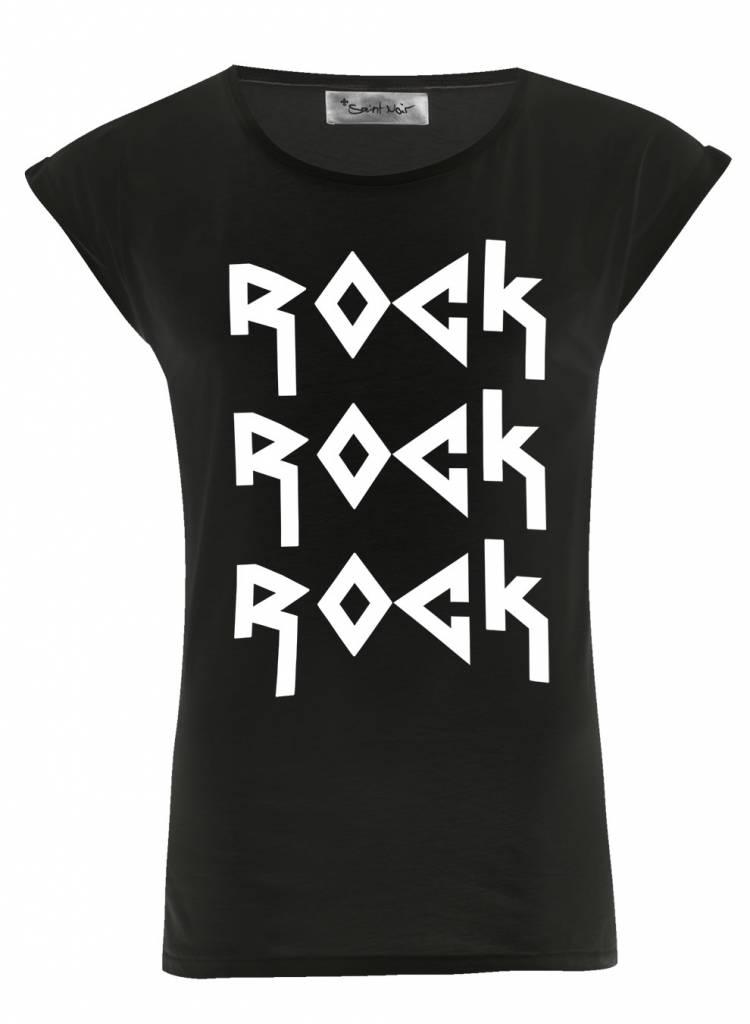 T-Shirt Rolled Sleeve Damen - Rock