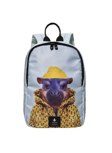 Backpack Accessory for kids - Little Hippo - Zoo Portraits