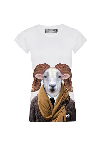 T-shirt Skinny Cut Women - Texas Sheep - Zoo Portraits