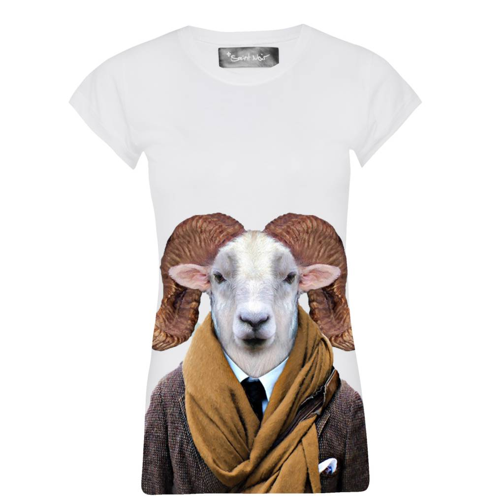 T-Shirt Skinny Cut Damen - Texas Sheep - Zoo Portraits