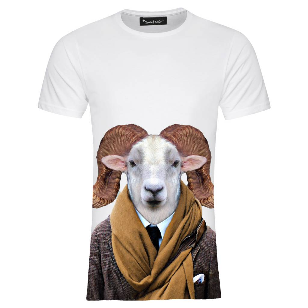 T-Shirt Herren - Texas Sheep - Zoo Portraits