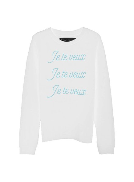 Sweatshirt Straight Fit Damen - Je Te Veux