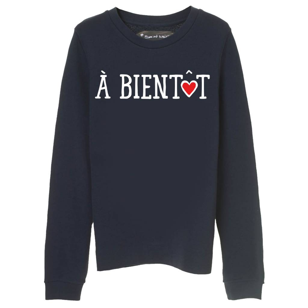Sweatshirt Straight Fit Damen - À Bientôt