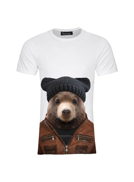T-shirt Men - Little Brown Bear - Zoo Portraits