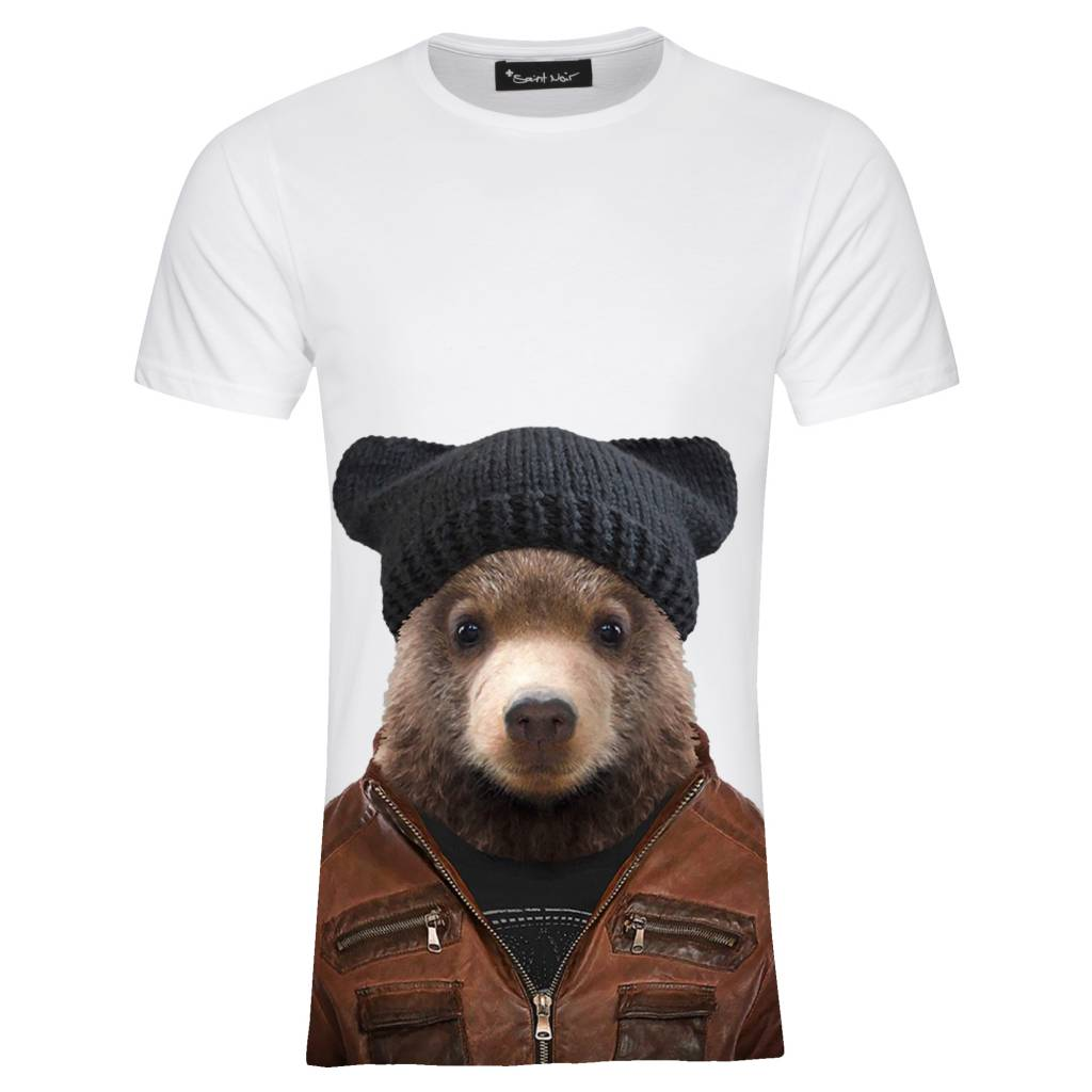 T-Shirt Herren - Little Brown Bear - Zoo Portraits