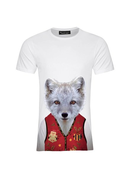 T-shirt Men - Little Fox - Zoo Portraits