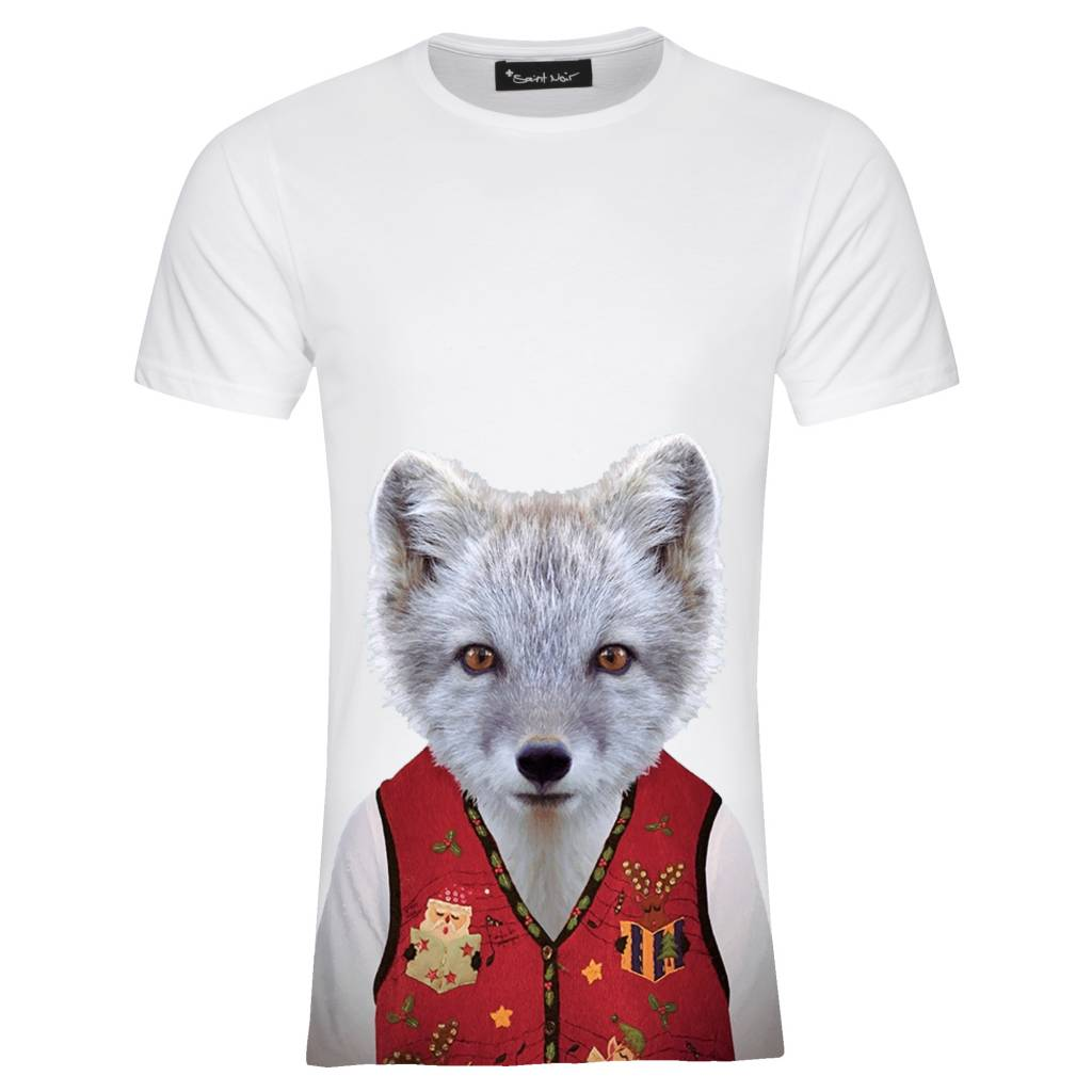 T-shirt Men - Little Fox - Zoo Portraits