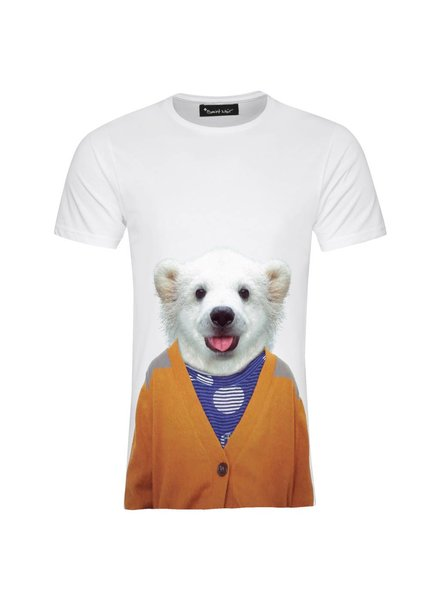 T-shirt Men - Little Polar Bear - Zoo Portraits