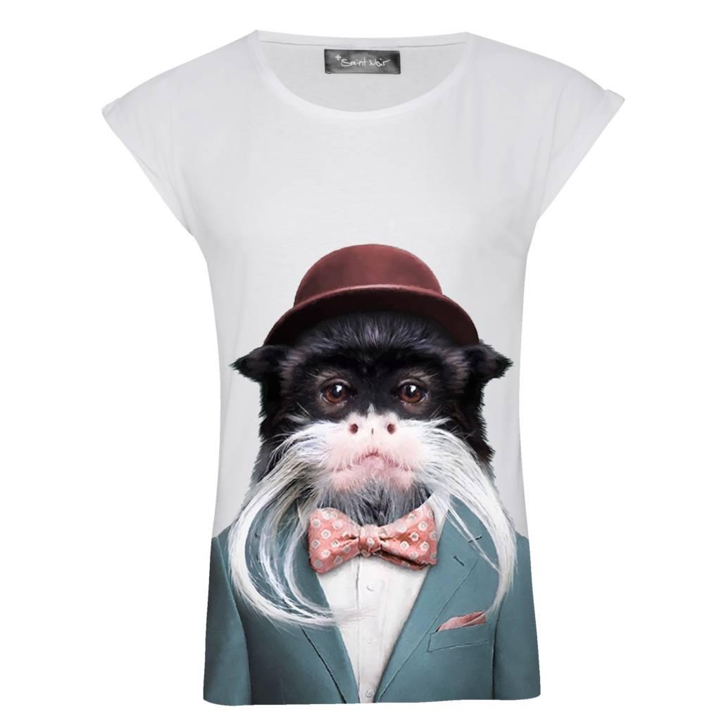 T-Shirt Rolled Sleeve Damen - Emperor Tamarin - Zoo Portraits