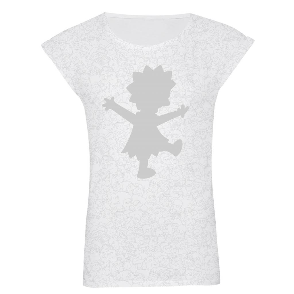 T-Shirt Rolled Sleeve Damen - Lisa - Simpsons Collection