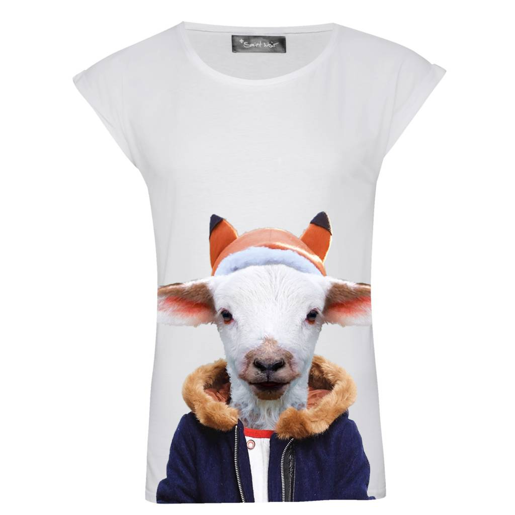 T-shirt Rolled Sleeve Women - Little Goat - Zoo Portraits
