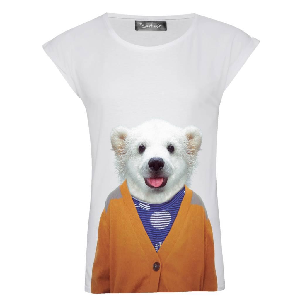 T-Shirt Rolled Sleeve Damen - Little Polar Bear - Zoo Portraits