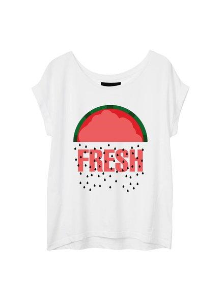 T-Shirt Round Neck Damen - Fresh