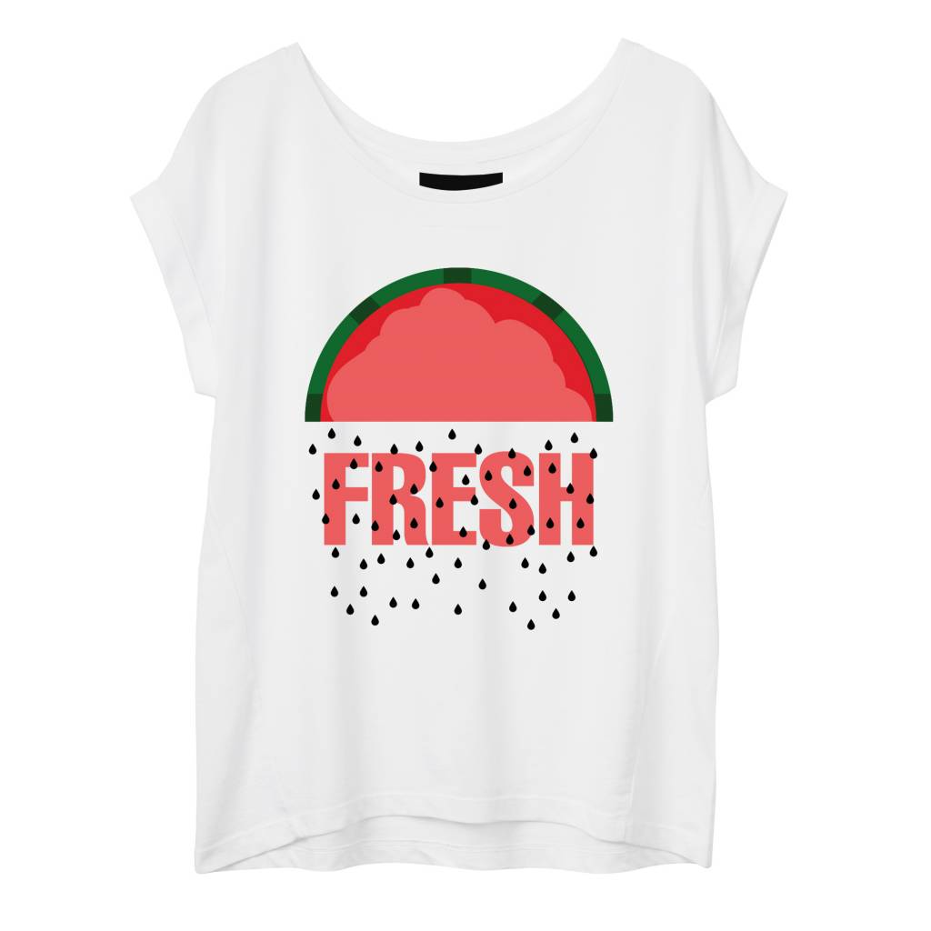 T-Shirt Round Neck Damen - Fresh