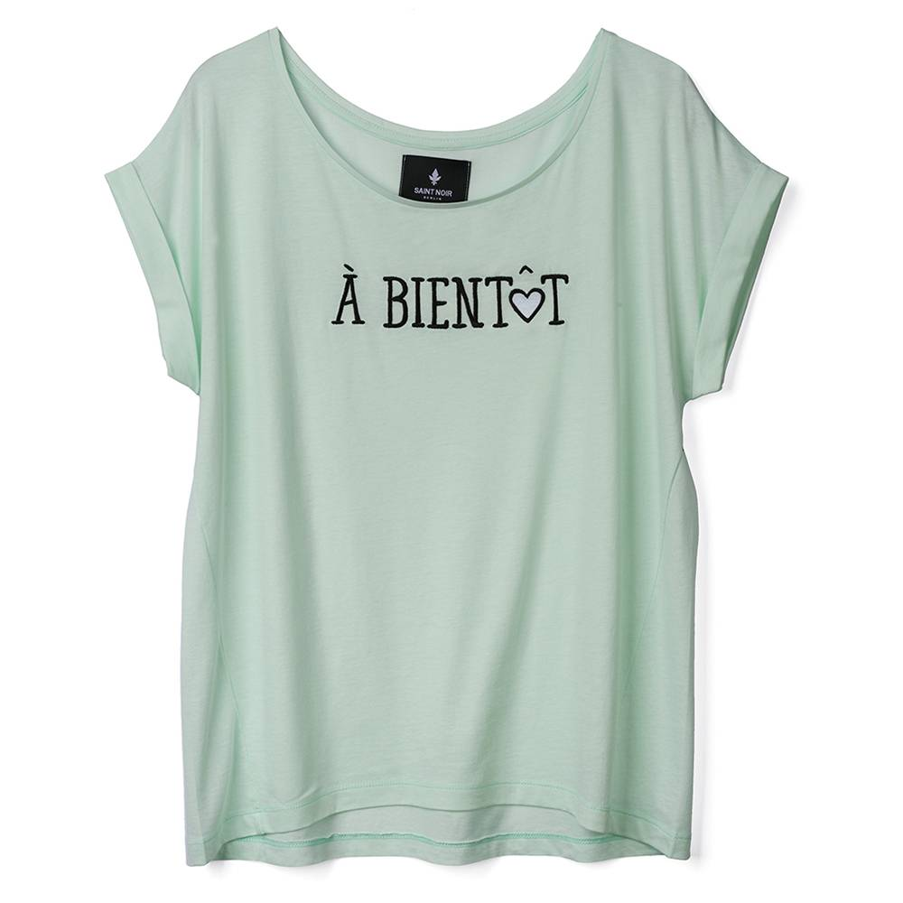 T-Shirt Round Neck Damen - À Bientôt