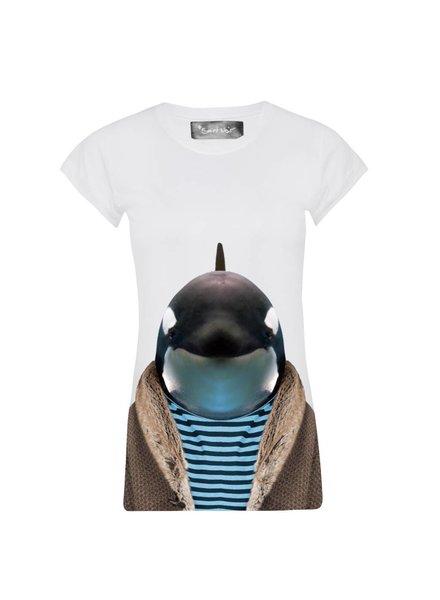 T-shirt Skinny Cut Women - Little Whale - Zoo Portraits