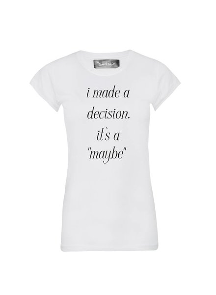 T-Shirt Skinny Cut Damen - Maybe