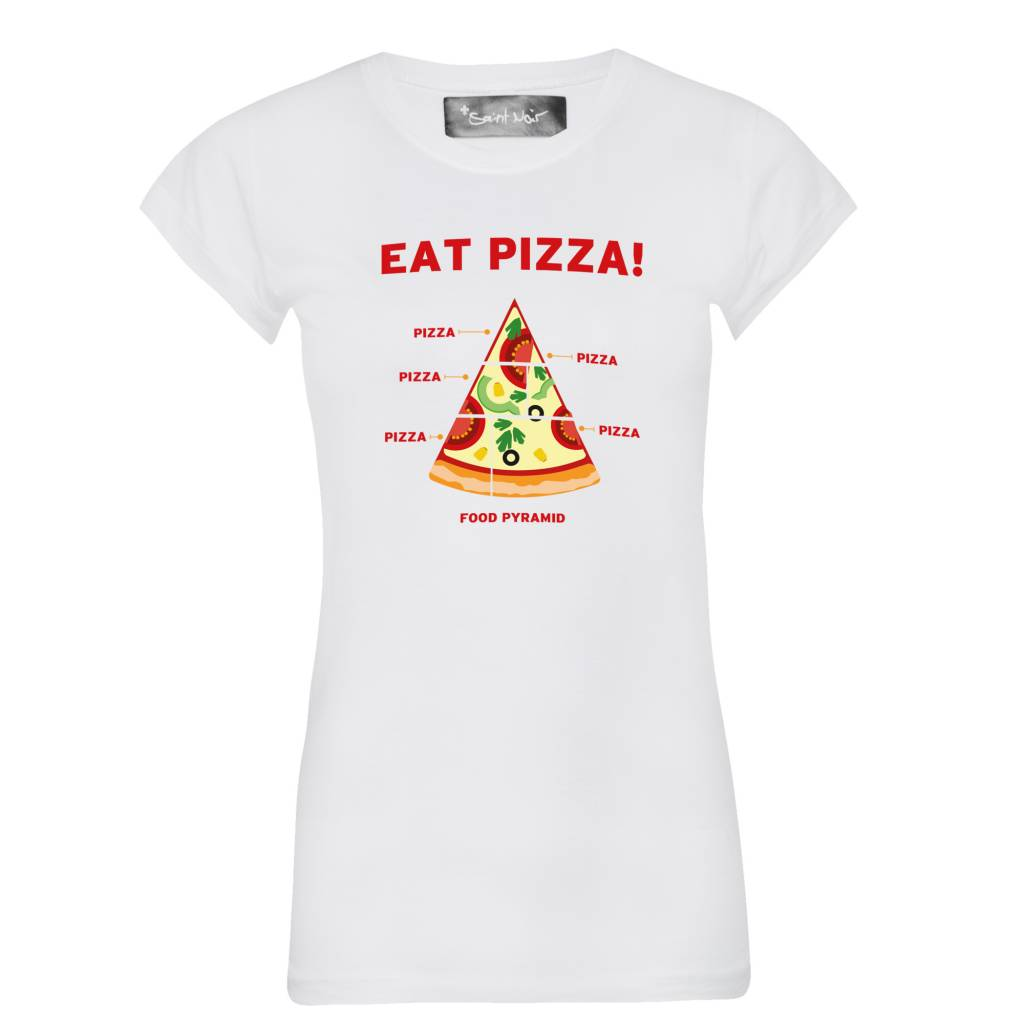 T-Shirt Skinny Cut Damen - Pizza