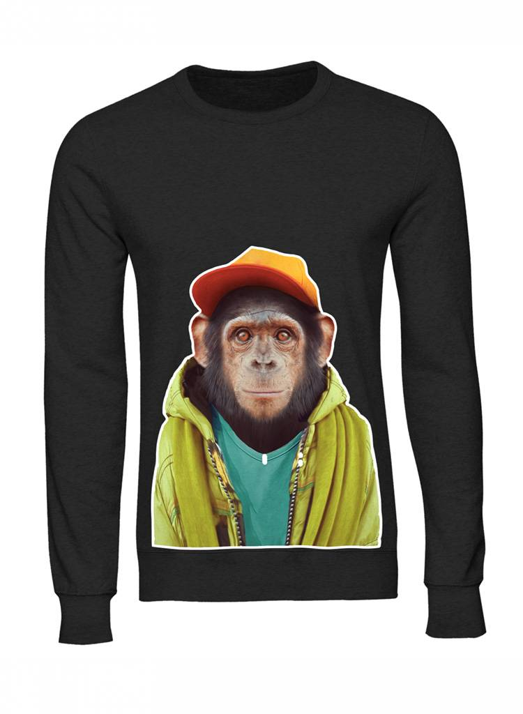 Sweatshirt Men - Chimpanzee - Zoo Portraits