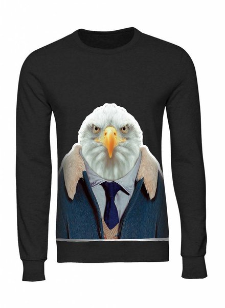 Sweatshirt Men - Eagle - Zoo Portraits