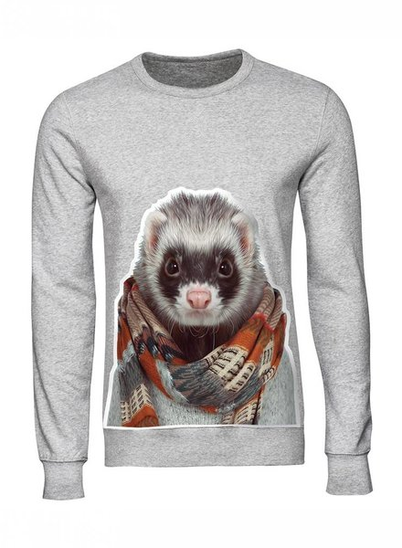 Sweatshirt Men - Ferret - Zoo Portraits