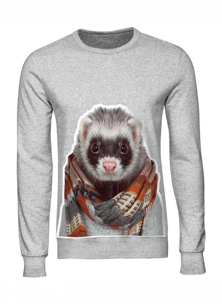 Sweatshirt Men - Ferret - Zoo Portraits