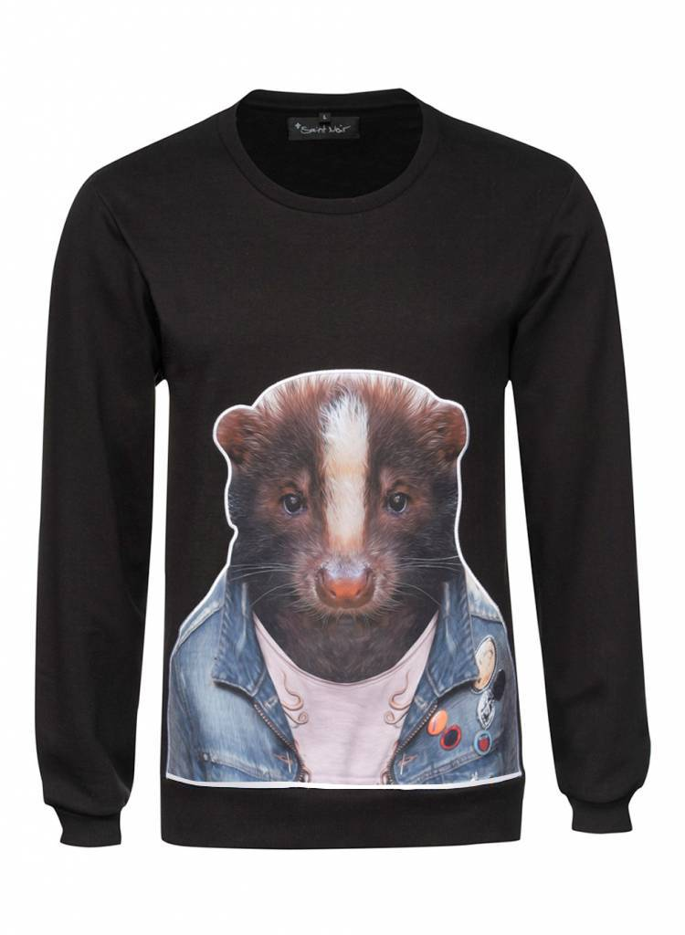 Sweatshirt Herren - Skunk - Zoo Portraits