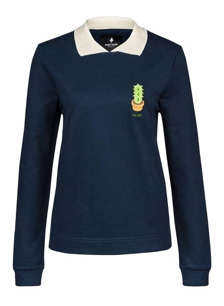 Sweatshirt Straight Collar Damen - Free Hugs